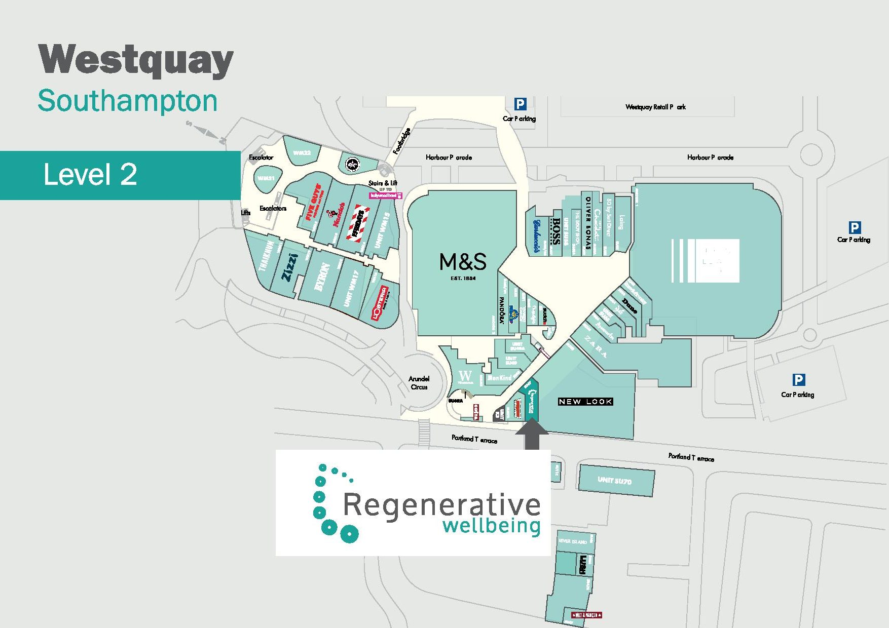 Westquay map